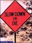 Slow down or DIE!